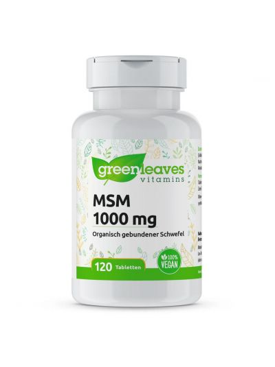 Green Leaves MSM TABLETTEN 1000 MG (OPTIMSM®) 120 Tabletten