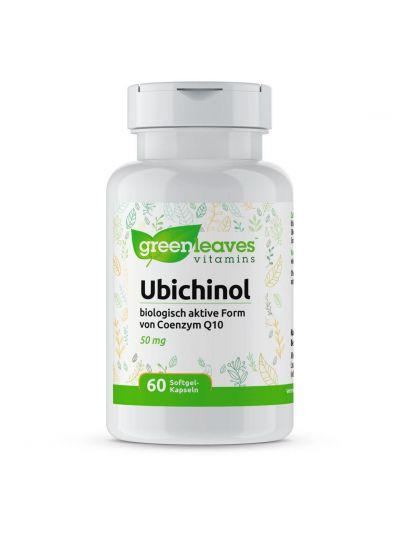 Green Leaves Ubiquinol UBICHINOL (Biologisch aktive Coenzym Q10 ) 50 MG 60 softgels