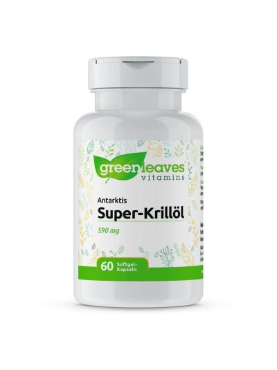 Green Leaves ANTARKTIS SUPER-KRILLÖL 590 mg 60 SOFTGEL-KAPSELN