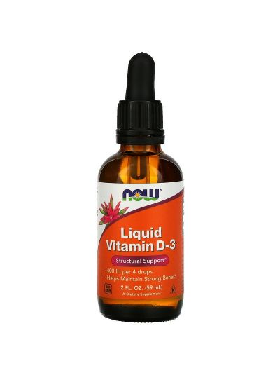 Now Foods flüssiges Vitamin D-3, 400 IU, 59 ml