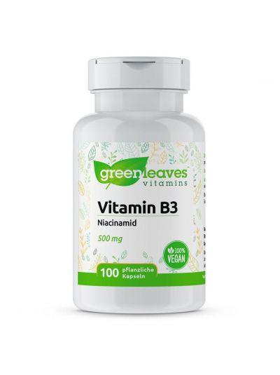 Green LEaves VITAMIN B3 NIACINAMID 500 MG 100 Kapseln