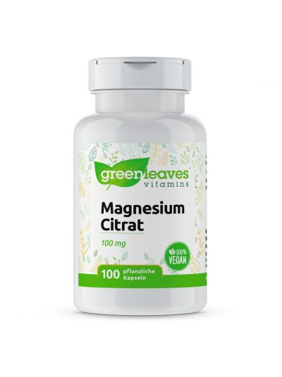 Green Leaves Magnesiumcitrat 100 mg 100 Kapseln