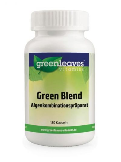 green leaves GREEN BLEND 400MG (SPIRULINA, CHLORELLA, AFA-ALGE) 120 Kaps