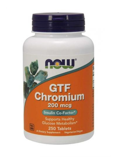 NOW FOODS GTF CHROM 200 MCG 250 TABLETTEN
