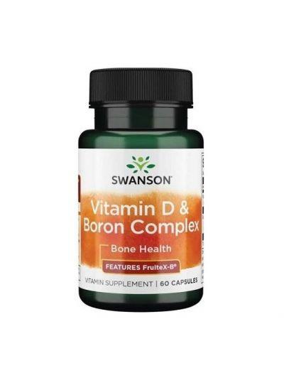 Swanson Vitamin D und Boron Komplex, 60 Kapseln