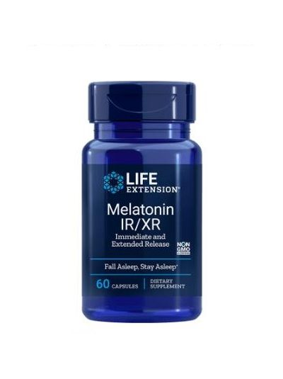 Life extension MELATONIN IR/XR, 1,5 MG 60 Kapseln