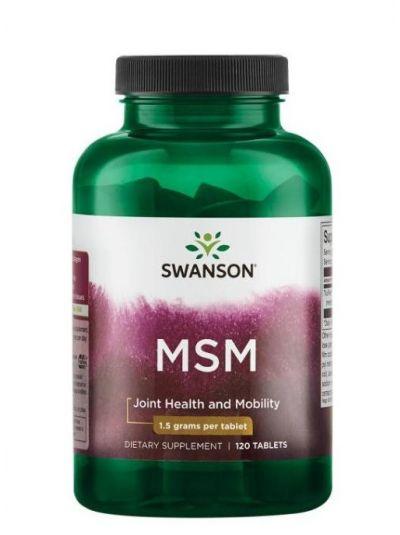 Swanson MSM (Methylsulfonylmethan) 1,5g 120 Tabletten