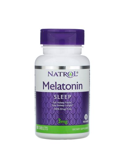 Natrol Melatonin 3 mg, 60 Tabletten