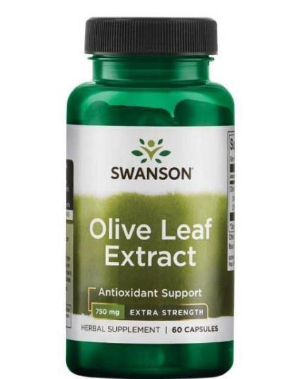 Swanson Olivenblatt-Extrakt, Extra Stark (standardisiert auf 20% Oleuropein) 750 mg 60 KApseln