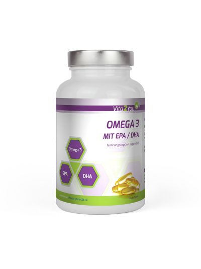 Vita2You Omega 3 1000mg mit EPA & DHA Fischöl 365 Softgels