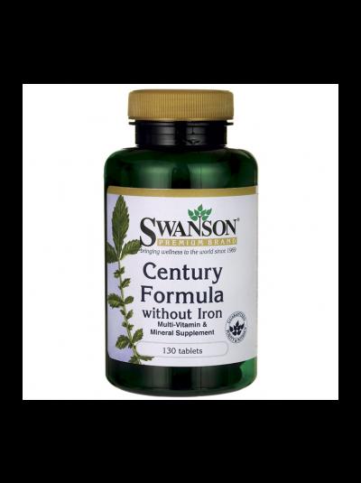 Swanson Century Formula Multivitamin ohne Eisen 130 Tabletten