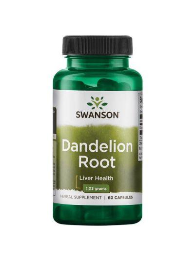 Swanson Vollspektrum Löwenzahnwurzel (Dandelion) 515 mg 60 Kapseln
