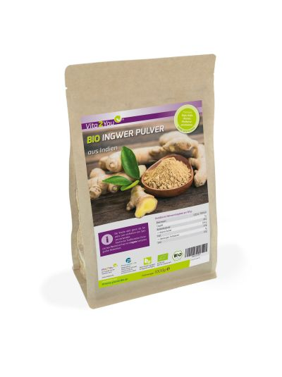 Vita2You Bio Ingwer Pulver - aus Ökologischen Anbau - fein gemahlen 1 kg