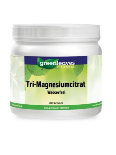 Green Leaves TRI-MAGNESIUMCITRAT PULVER (375 mg Magnesium pro Messlöffel)