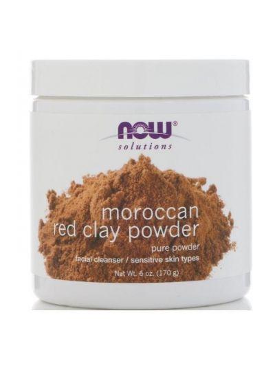 Now Foods Marokkanisches rotes CLAY PULVER (porentiefe Reinigung) 170 g