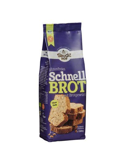 Bauckhof Schnellbrot mit Brotgewürz glutenfrei Bio 500g
