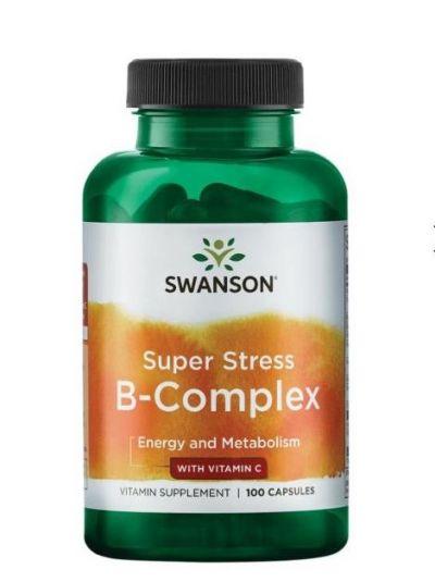 swanson Super Stress B-Komplex mit Vitamin C 100 Kapseln