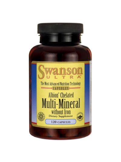 Swanson Albion Chelatisiert / Elementares Multi-Mineral o. Eisen 120Kaps