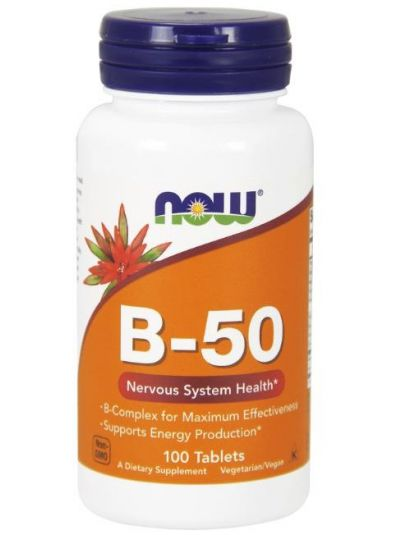 NOW FOODS B-50 KOMPLEX HOCHDOSIERT 100 Tabletten