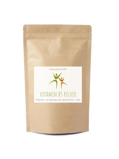 Vitalundfitmit100 Vitamin B5 (Pantothensäure) Pulver 100 g
