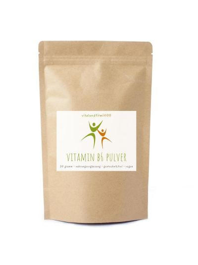 Vitalundfitmit100 Vitamin B6 Pulver 50 g
