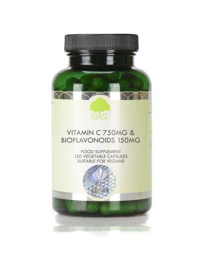 G&G VITAMINS Vitamin C 750mg & Bioflavonoide 150mg - 120 Kapseln