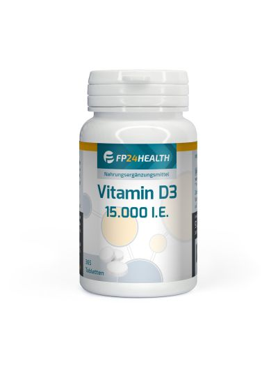 Vita2you Vitamin D3 - 15.000 IU Hochdosiert - 365 Tabletten