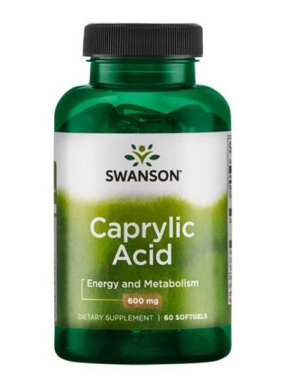 Swanson Caprylsäure 600 mg 60 Softgels
